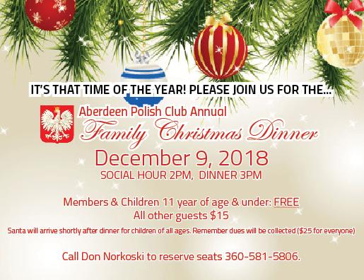 Annual Christmas Dinner 2018